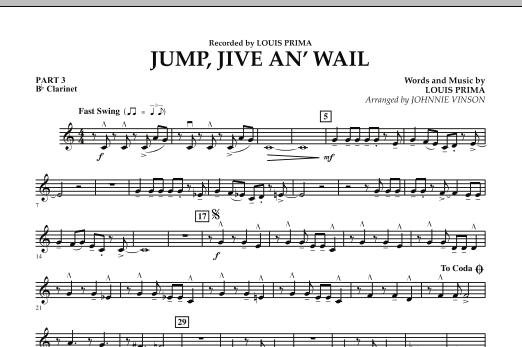 Jump, Jive An' Wail - Pt.3 - Bb Clarinet (Concert Band: Flex-Band)