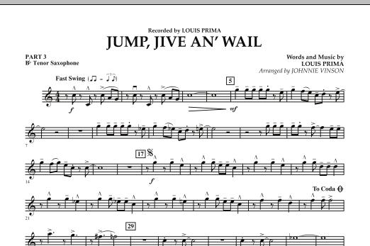Jump, Jive An' Wail - Pt.3 - Bb Tenor Saxophone (Concert Band: Flex-Band)