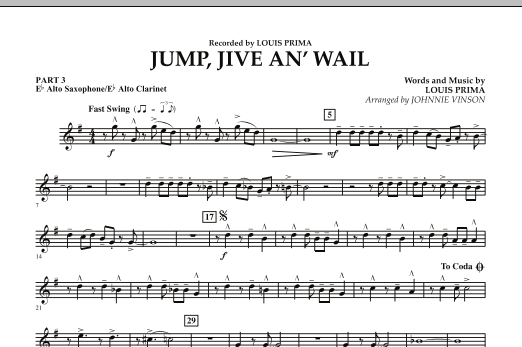 Jump, Jive An' Wail - Pt.3 - Eb Alto Sax/Alto Clar. (Concert Band: Flex-Band)