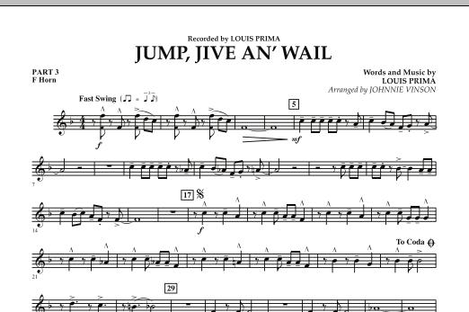 Jump, Jive An' Wail - Pt.3 - F Horn (Concert Band: Flex-Band)