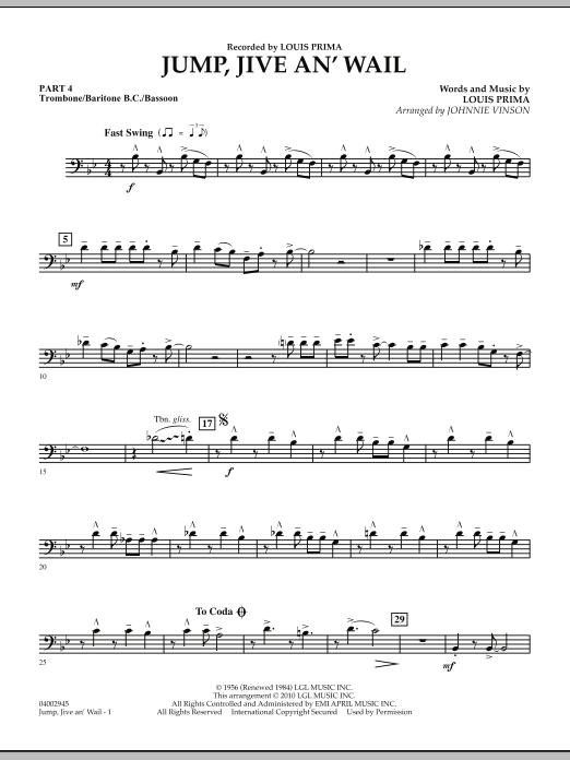 Jump, Jive An' Wail - Pt.4 - Trombone/Bar. B.C./Bsn. (Concert Band: Flex-Band)