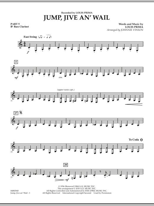 Jump, Jive An' Wail - Pt.5 - Bb Bass Clarinet (Concert Band: Flex-Band)