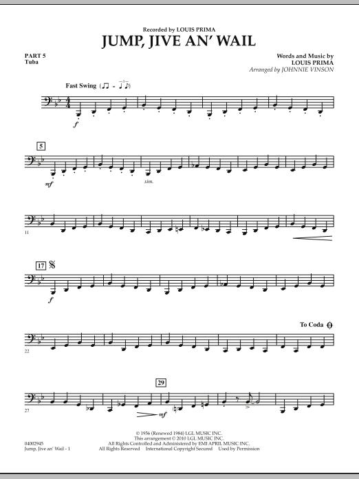 Jump, Jive An' Wail - Pt.5 - Tuba (Concert Band: Flex-Band)
