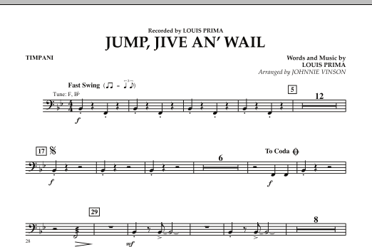 Jump, Jive An' Wail - Timpani (Concert Band: Flex-Band)