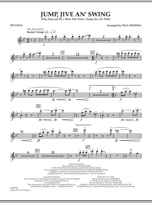 Jump, Jive An' Swing - Piccolo (Concert Band)