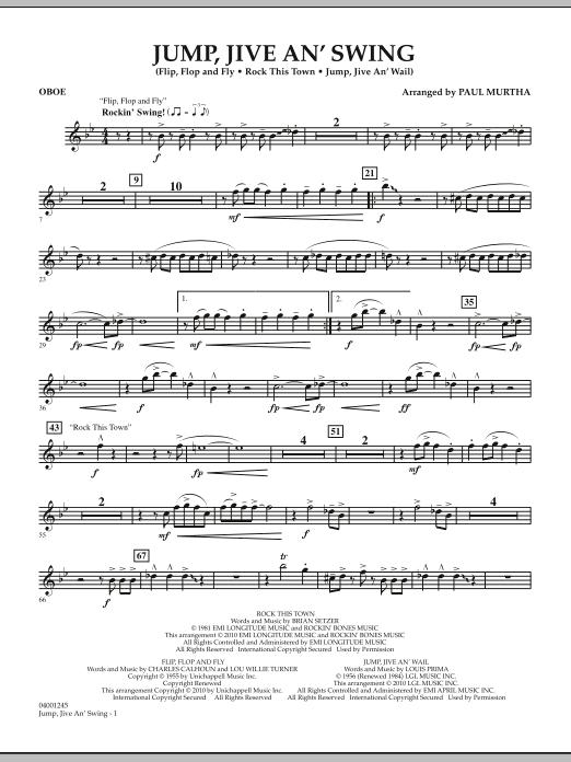 Jump, Jive An' Swing - Oboe (Concert Band)
