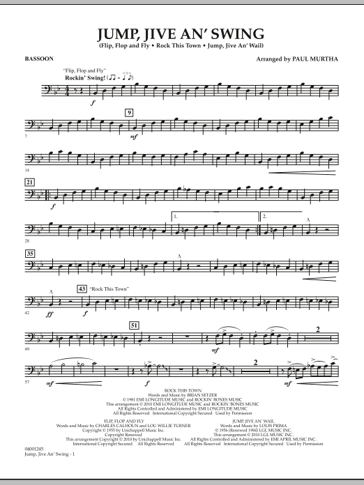 Jump, Jive An' Swing - Bassoon (Concert Band)