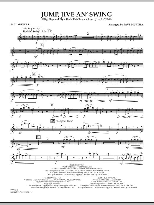 Jump, Jive An' Swing - Bb Clarinet 1 (Concert Band)