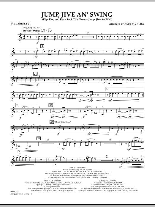 Jump, Jive An' Swing - Bb Clarinet 2 (Concert Band)