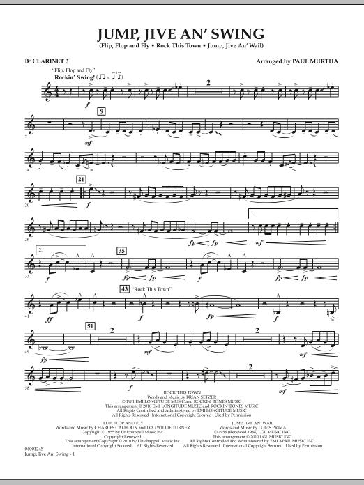 Jump, Jive An' Swing - Bb Clarinet 3 (Concert Band)