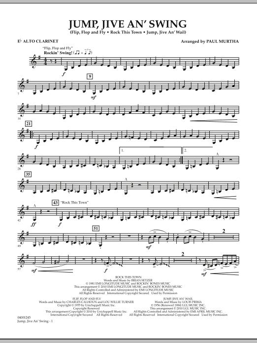Jump, Jive An' Swing - Eb Alto Clarinet (Concert Band)