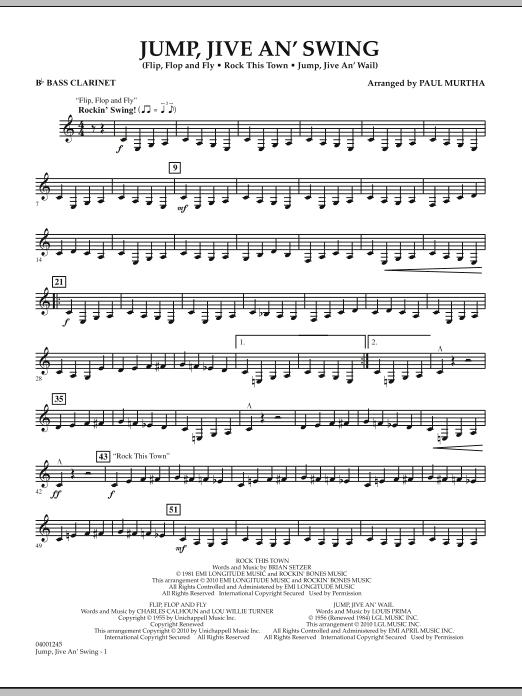 Jump, Jive An' Swing - Bb Bass Clarinet (Concert Band)