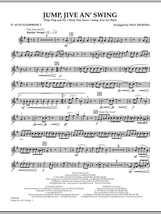 Jump, Jive An' Swing - Eb Alto Saxophone 2 (Concert Band)