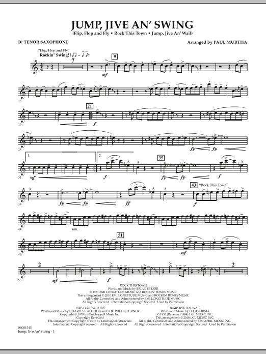 Jump, Jive An' Swing - Bb Tenor Saxophone (Concert Band)