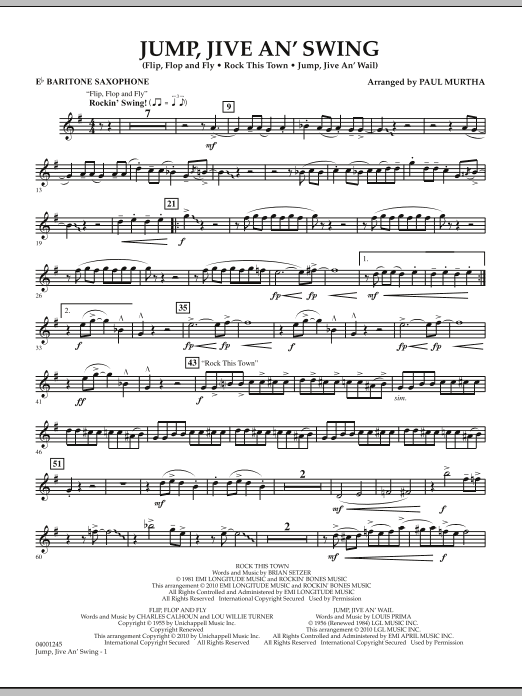 Jump, Jive An' Swing - Eb Baritone Saxophone (Concert Band)