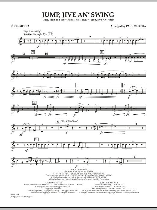 Jump, Jive An' Swing - Bb Trumpet 2 (Concert Band)