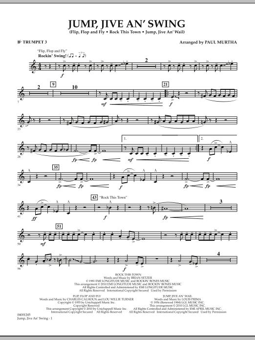 Jump, Jive An' Swing - Bb Trumpet 3 (Concert Band)