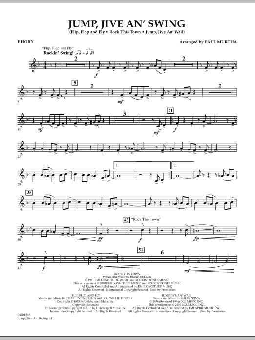 Jump, Jive An' Swing - F Horn (Concert Band)