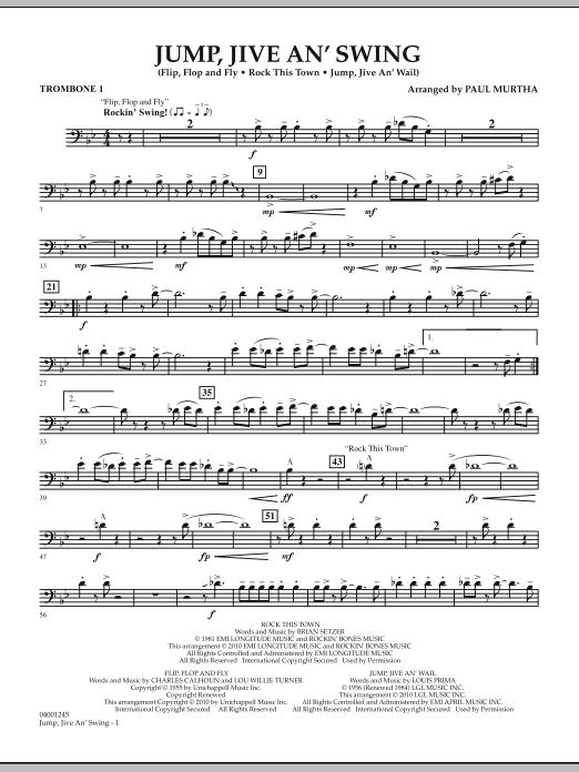 Jump, Jive An' Swing - Trombone 1 (Concert Band)
