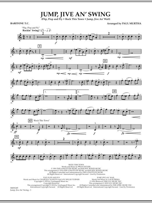 Jump, Jive An' Swing - Baritone T.C. (Concert Band)