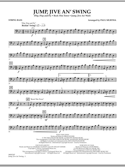Jump, Jive An' Swing - String Bass (Concert Band)