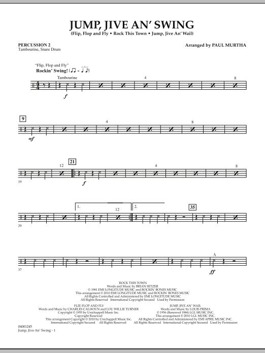 Jump, Jive An' Swing - Percussion 2 (Concert Band)