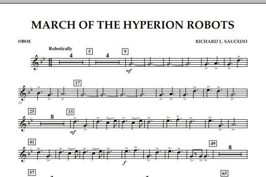 March Of The Hyperion Robots - Oboe (Concert Band)