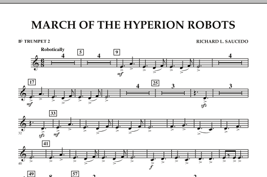 March Of The Hyperion Robots - Bb Trumpet 2 (Concert Band)