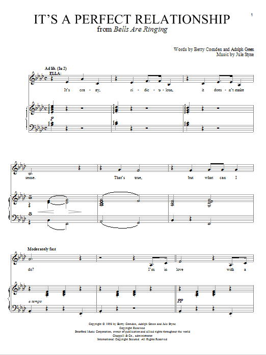 It's A Perfect Relationship Sheet Music