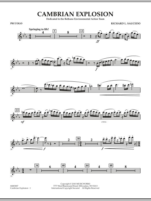 Cambrian Explosion - Piccolo (Concert Band)