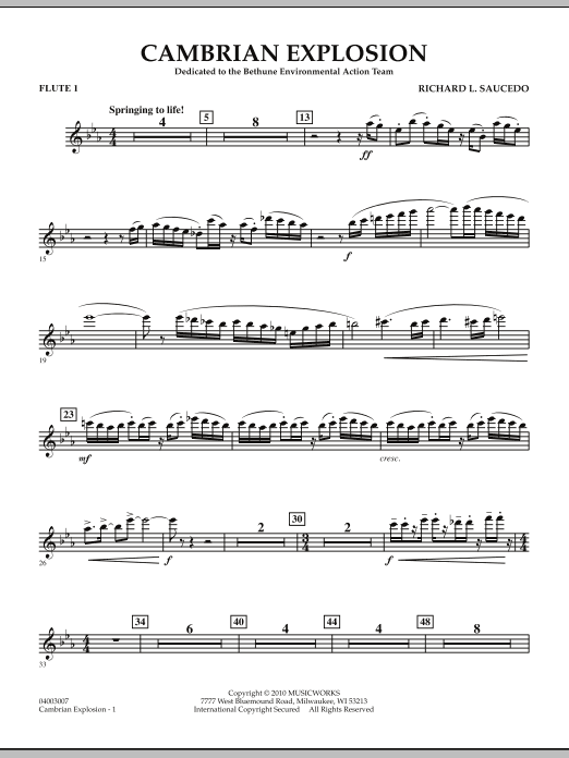 Cambrian Explosion - Flute 1 (Concert Band)