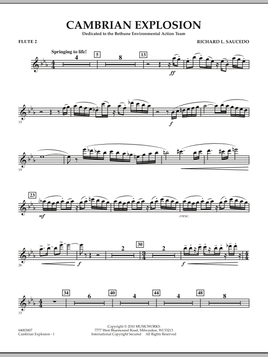 Cambrian Explosion - Flute 2 (Concert Band)