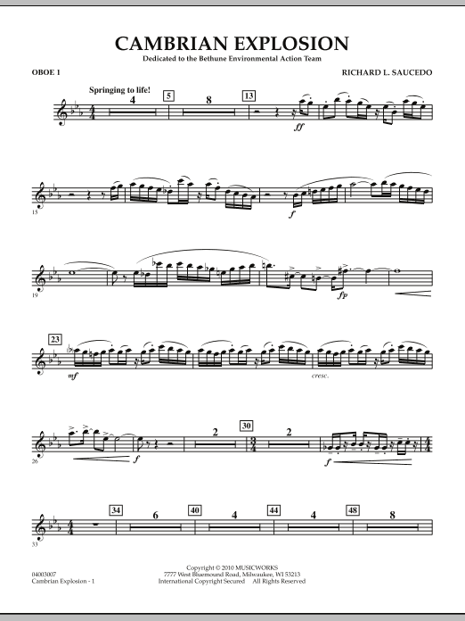 Cambrian Explosion - Oboe 1 (Concert Band)