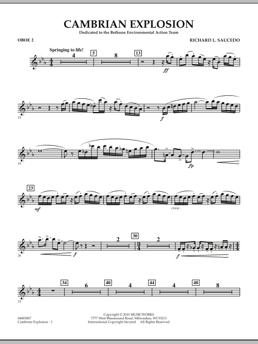 Cambrian Explosion - Oboe 2 (Concert Band)