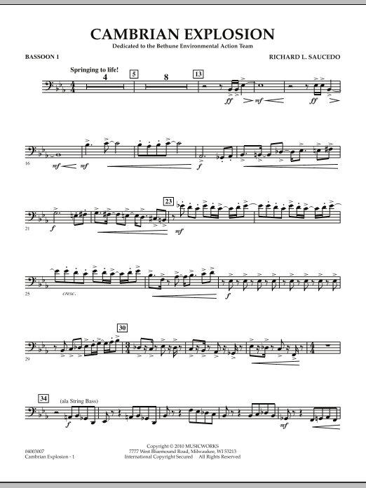 Cambrian Explosion - Bassoon 1 (Concert Band)