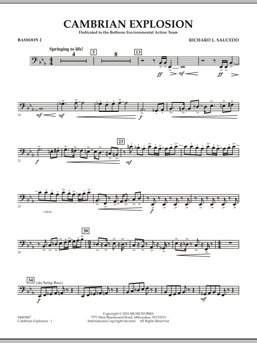 Cambrian Explosion - Bassoon 2 (Concert Band)