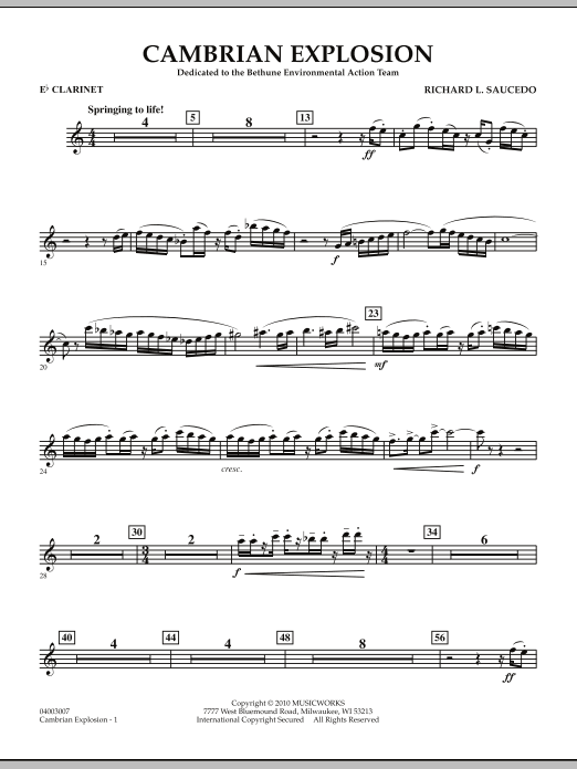 Cambrian Explosion - Eb Clarinet (Concert Band)