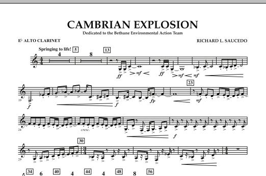 Cambrian Explosion - Eb Alto Clarinet (Concert Band)