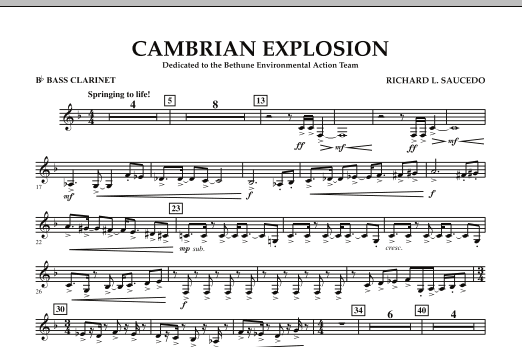 Cambrian Explosion - Bb Bass Clarinet (Concert Band)