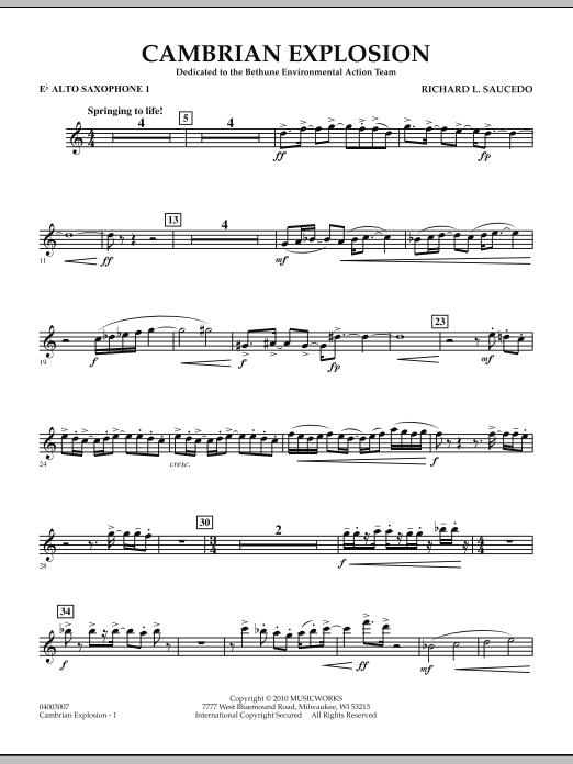 Cambrian Explosion - Eb Alto Saxophone 1 (Concert Band)