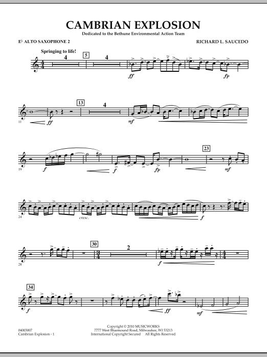 Cambrian Explosion - Eb Alto Saxophone 2 (Concert Band)