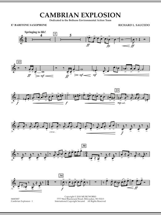 Cambrian Explosion - Eb Baritone Saxophone (Concert Band)