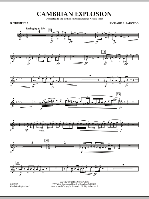 Cambrian Explosion - Bb Trumpet 2 (Concert Band)