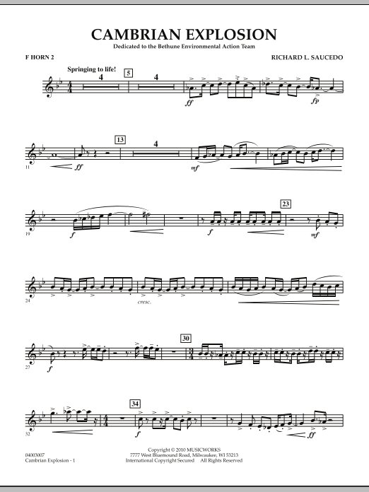 Cambrian Explosion - F Horn 2 (Concert Band)