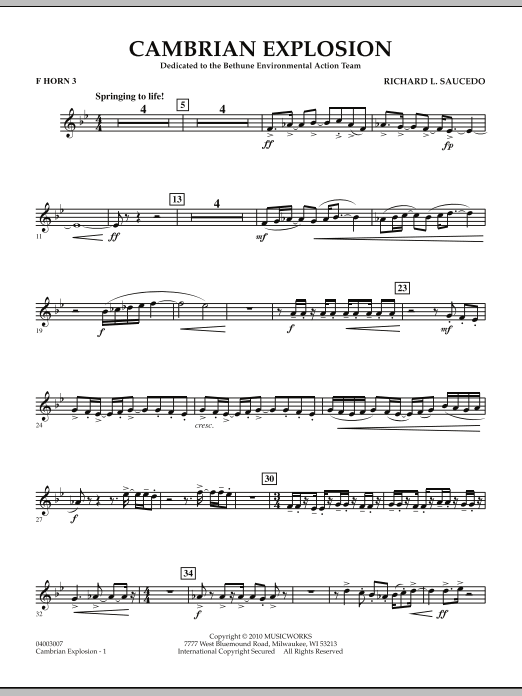 Cambrian Explosion - F Horn 3 (Concert Band)