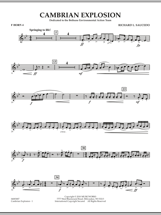 Cambrian Explosion - F Horn 4 (Concert Band)