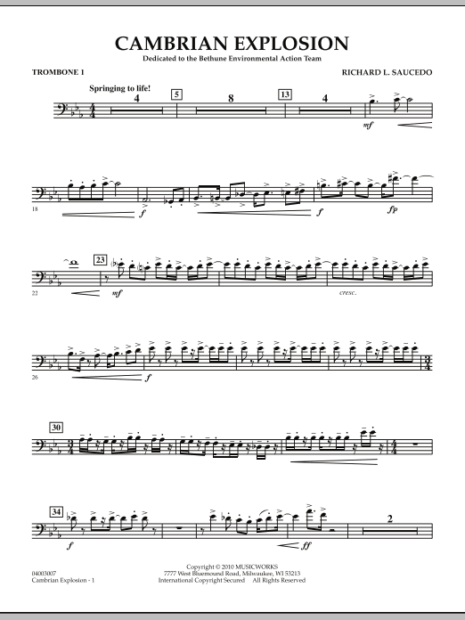 Cambrian Explosion - Trombone 1 (Concert Band)