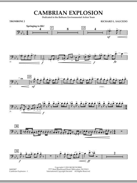 Cambrian Explosion - Trombone 2 (Concert Band)