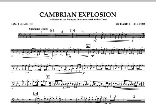 Cambrian Explosion - Bass Trombone (Concert Band)