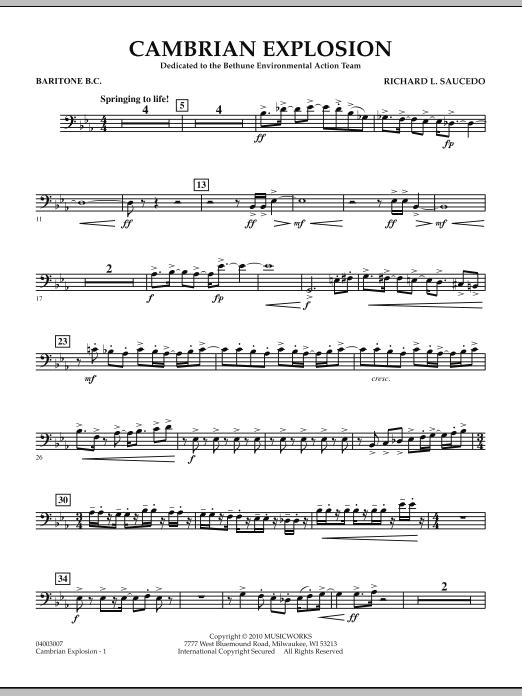 Cambrian Explosion - Percussion 1 by Richard L  Saucedo, Richard L  Saucedo  - Hal Leonard - Prima Music